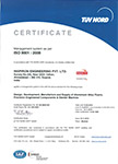 Compliance to ISO 9001 : 2008